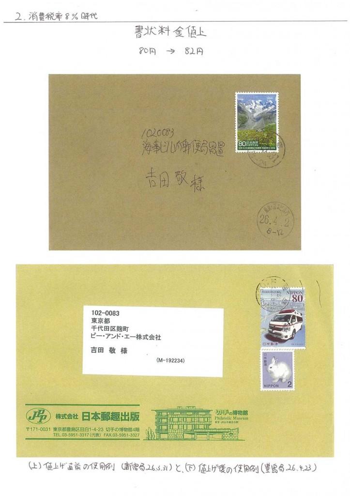 2円うさぎ郵便史リーフ